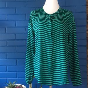 Splendid green blue stripe tunic top